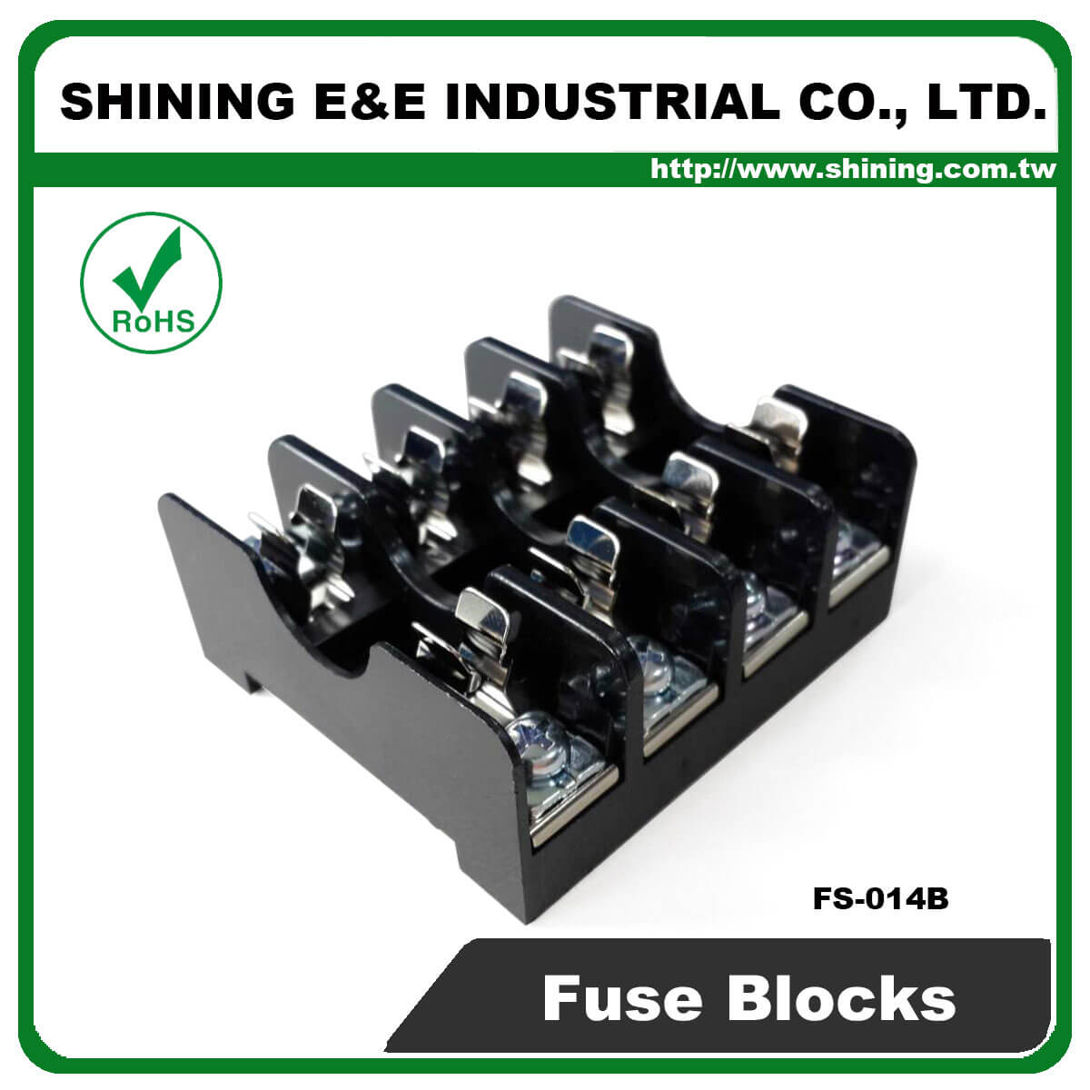 FS-014B For 6x30mm Fuse Din Rail Mounted 600V 10A 4 Way Fuse