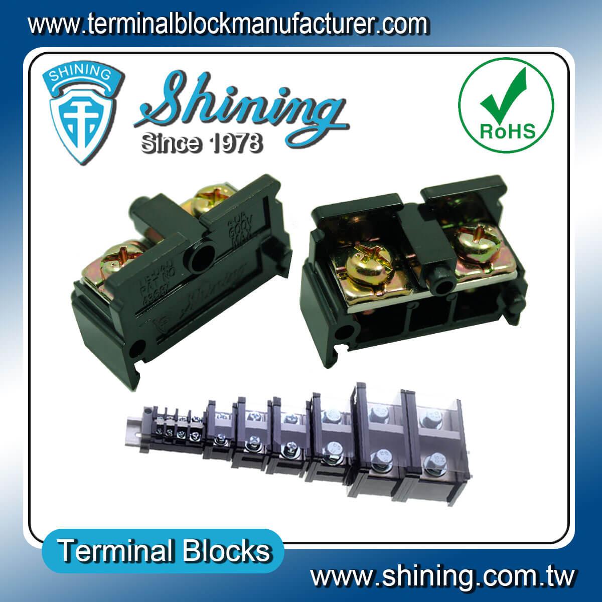 TE-040 600V 40A 35mm軌道組合式端子台