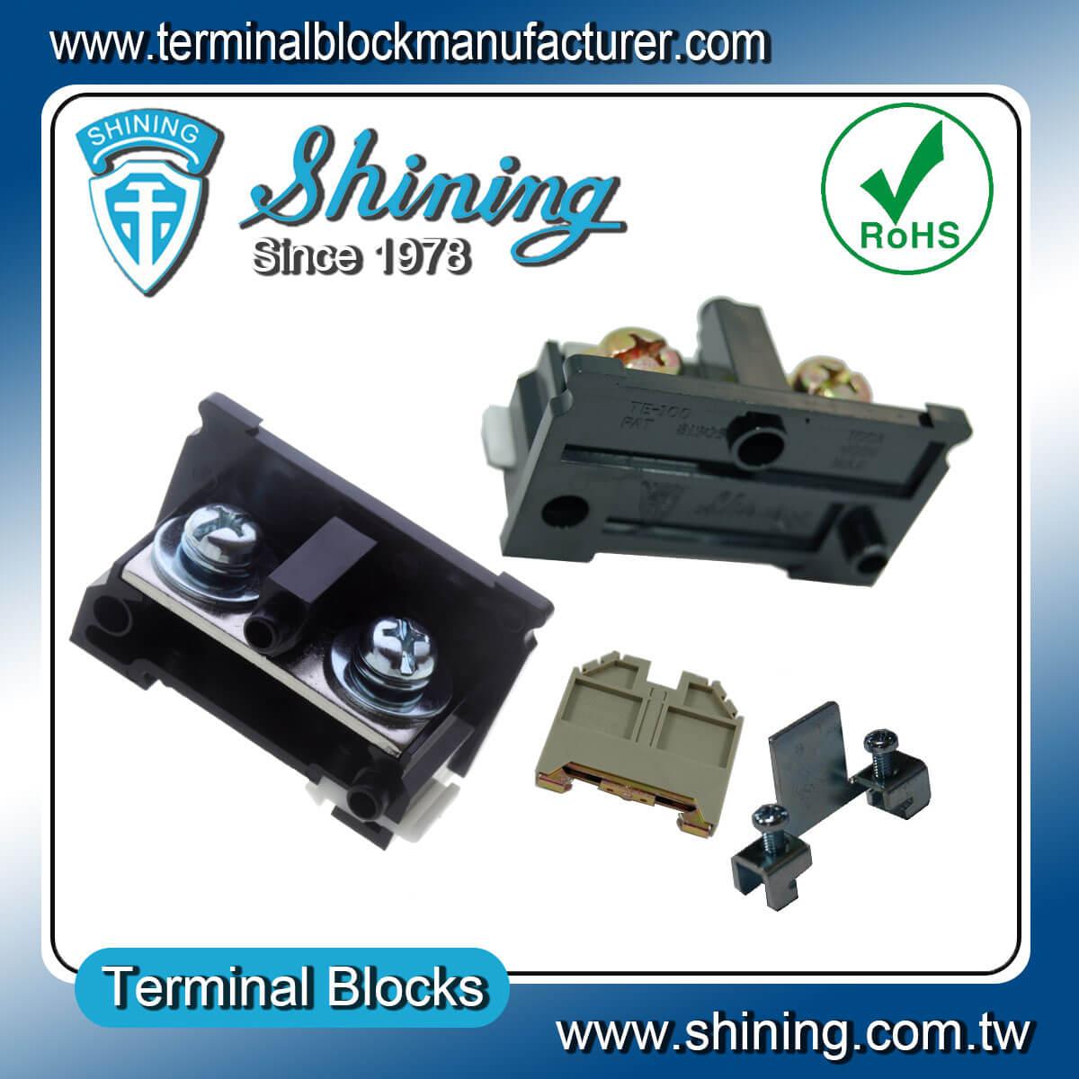 TE-100 600V 100A 35mm軌道組合式端子台