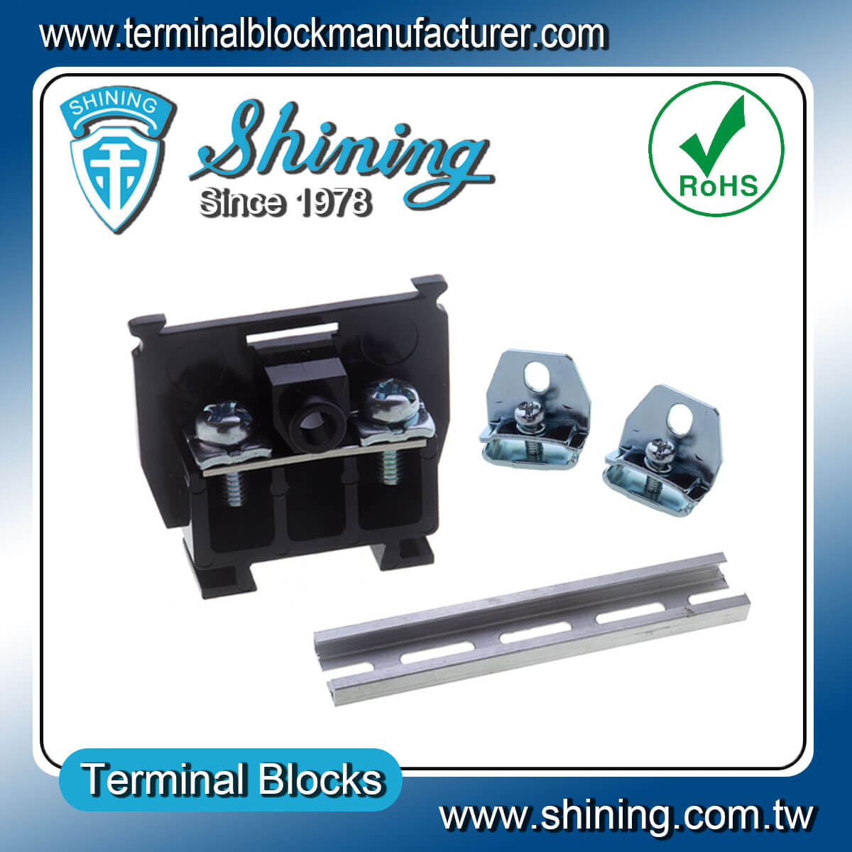 TS Series-25mm 600V Din Rail Mounted Cassette Type Terminal Connector