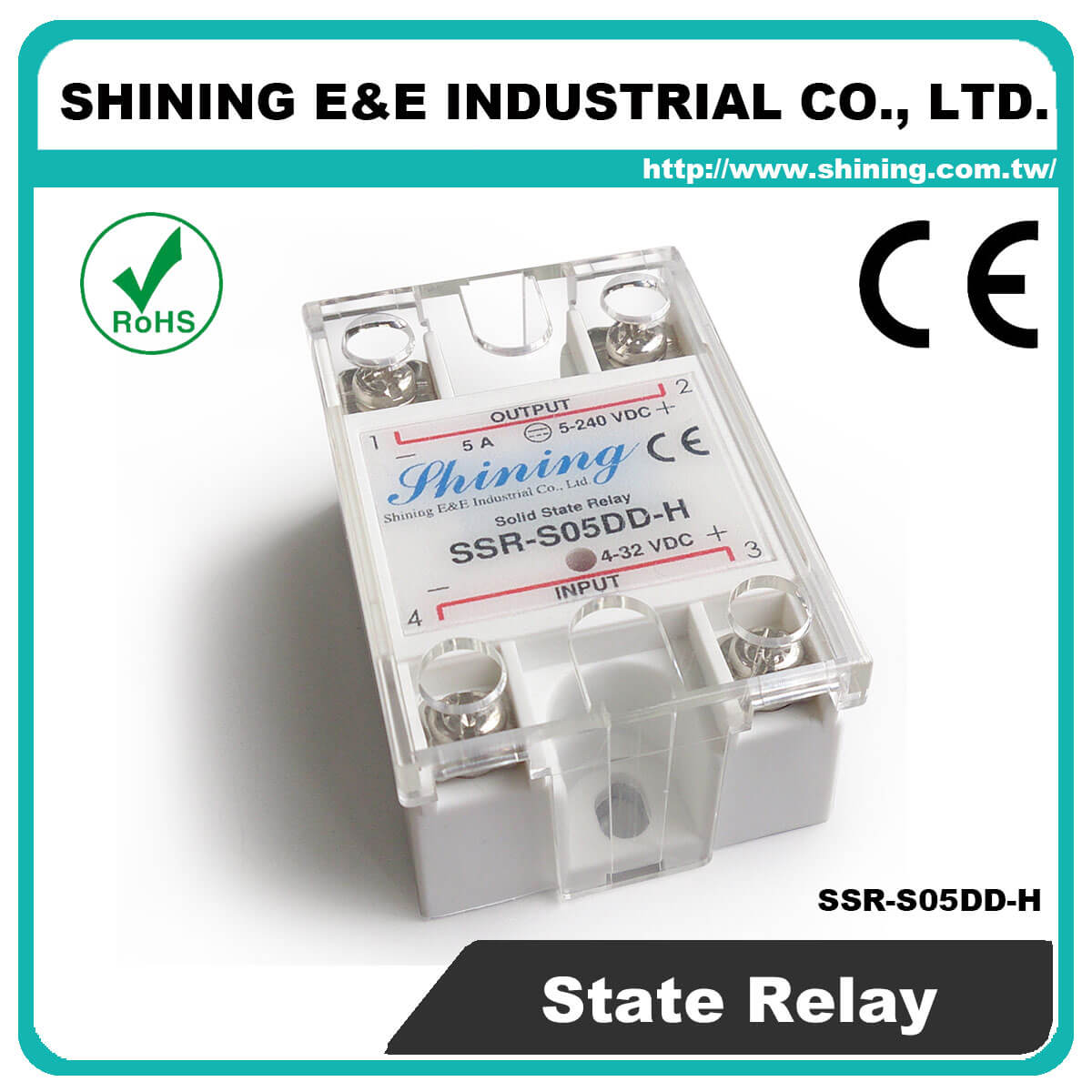 Ssr Sxxdd H Series Vrtoac Single Phase Solid State Relay Latch Up S05dd Dc To 5a 120vdc
