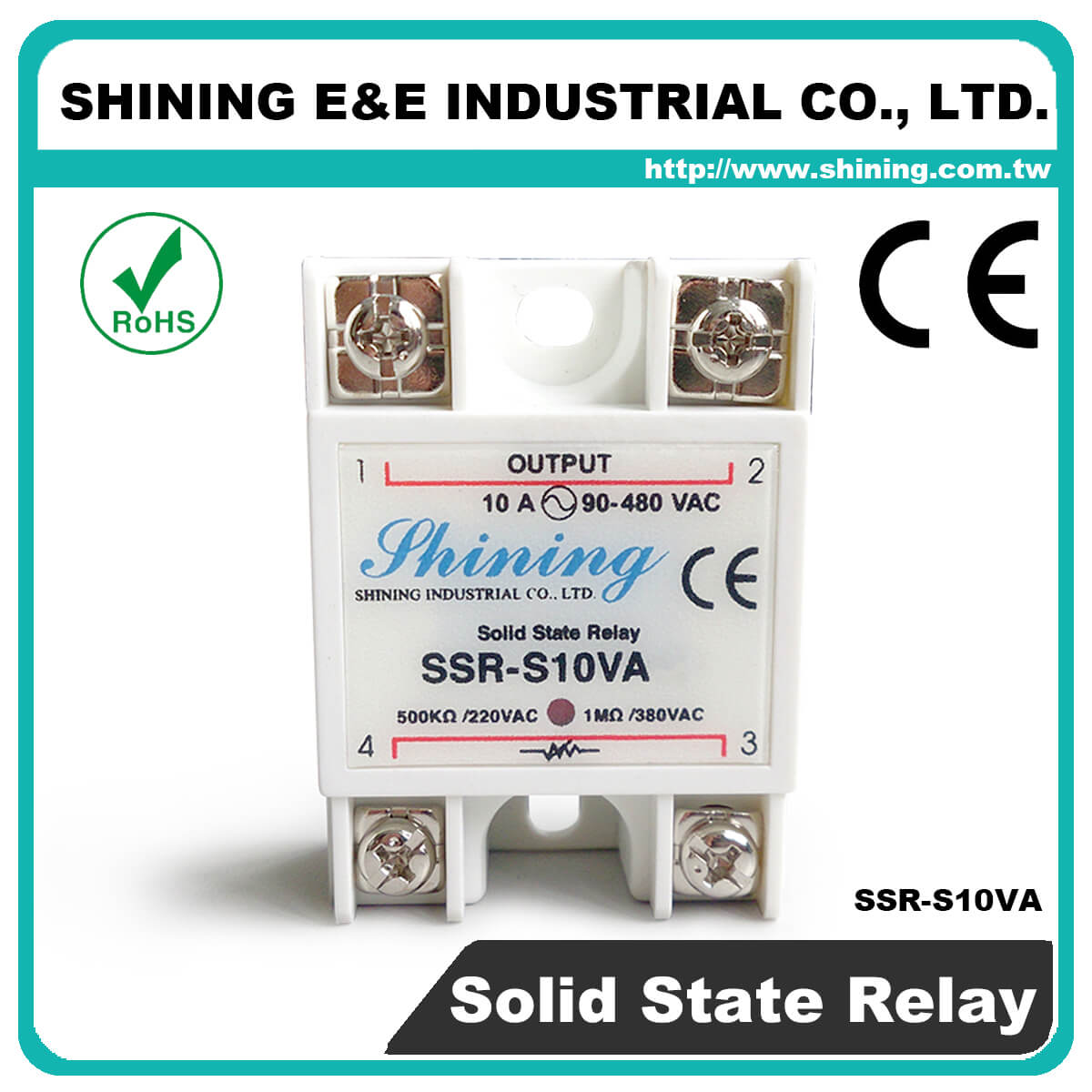 Ssr Sxxva Series Vrtoac Single Phase Solid State Relay 220v Ac S10va Vr To 10a 280vac S