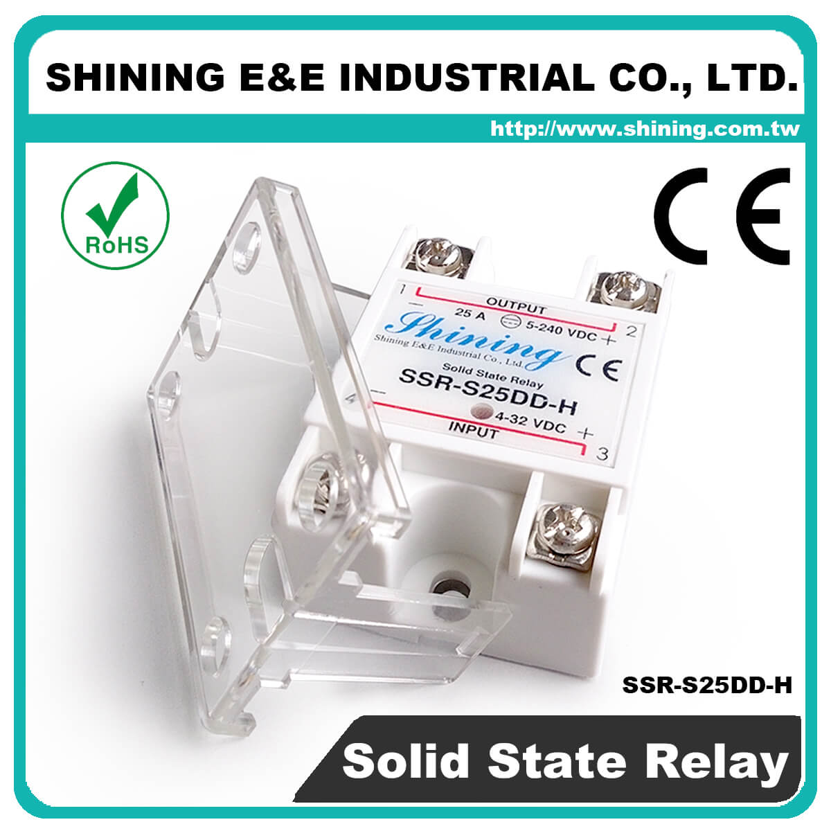 Ssr Sxxdd H Series Vrtoac Single Phase Solid State Relay The Professional S25dd Dc To 25a 120vdc