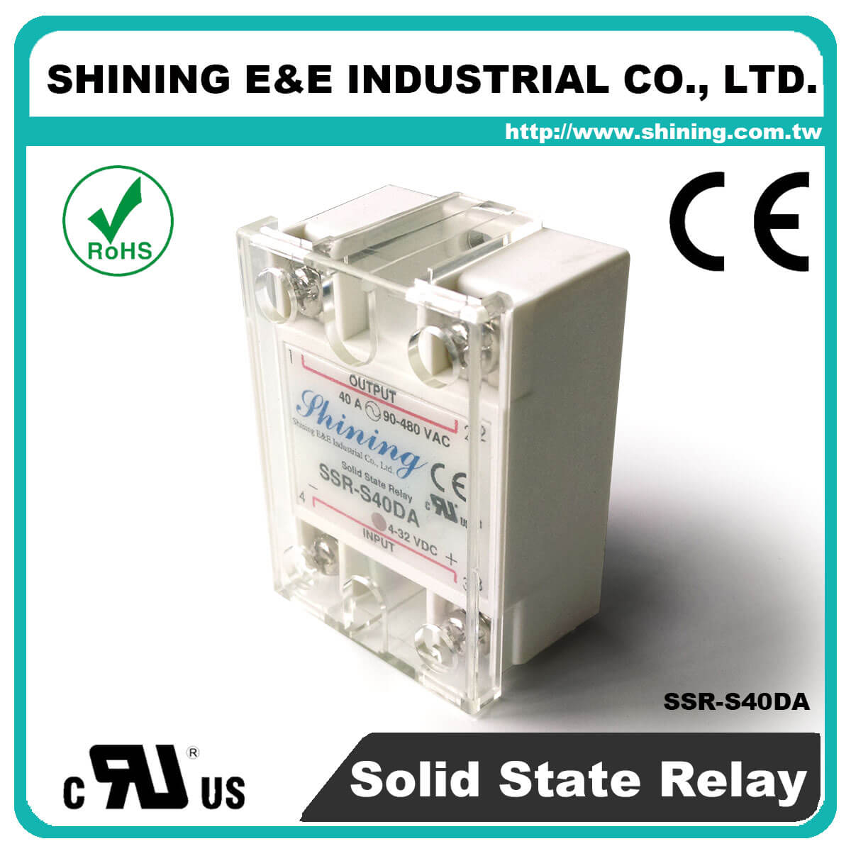 Ssr Sxxda Series Dctoac Single Phase Solid State Relay Example S40da Dc To Ac 40a 280vac S