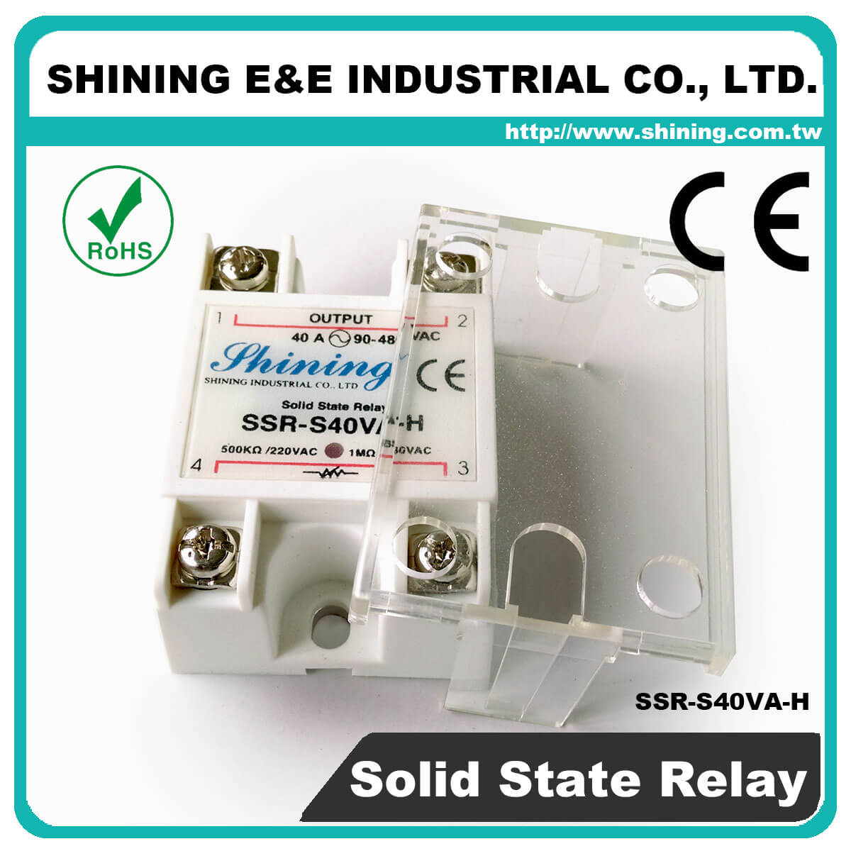 Ssr Sxxva Series Vrtoac Single Phase Solid State Relay The Professional S40va H Vr To Ac 40a 480vac