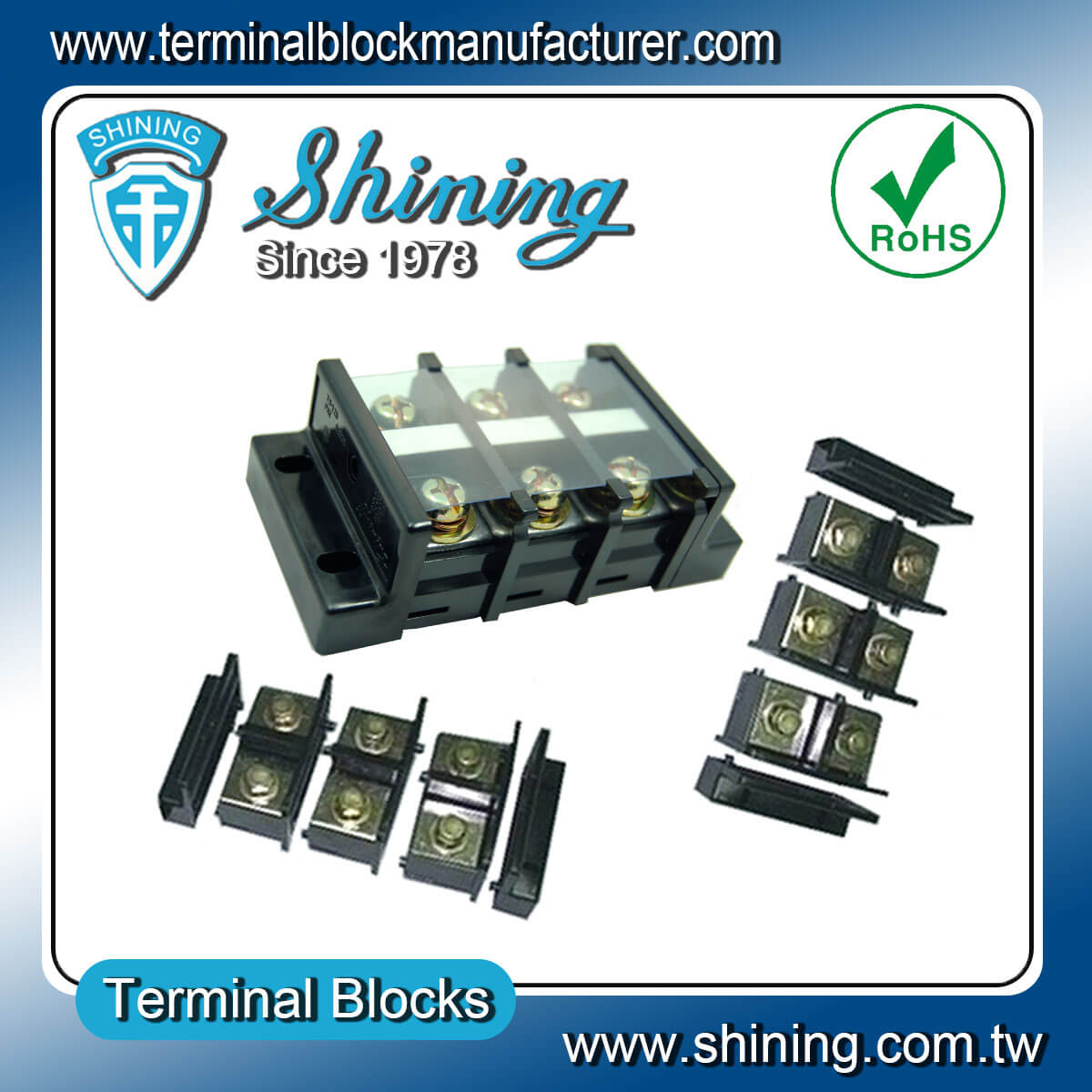 TB-125 600V 125A 組合式柵欄端子台