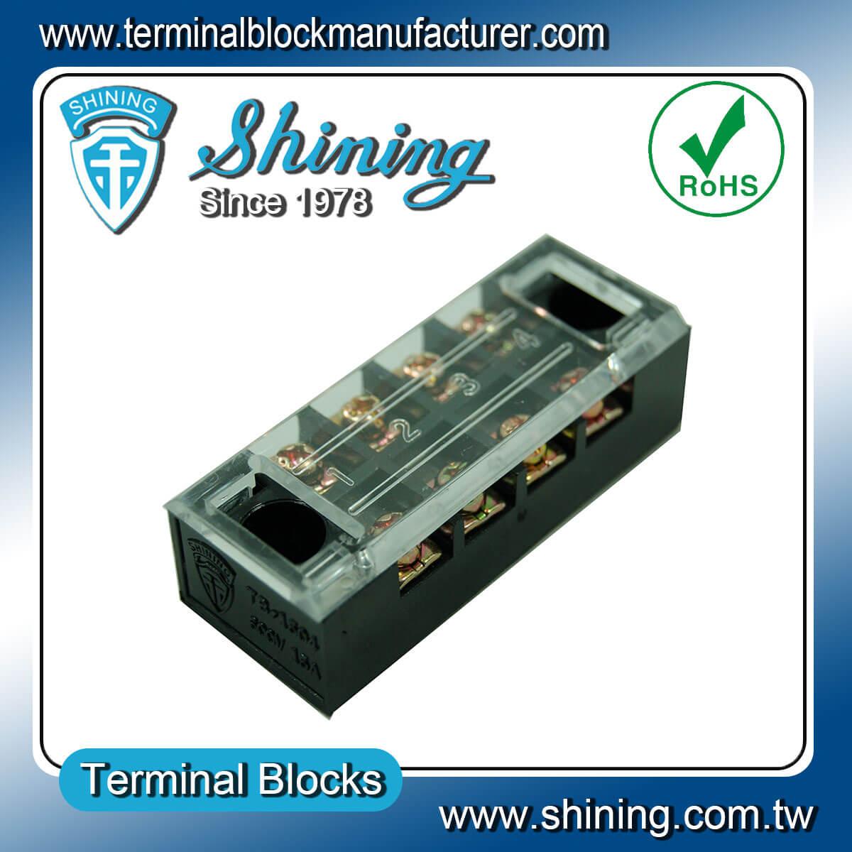 TB-1504 600V 15A 4Pole固定式柵欄端子台