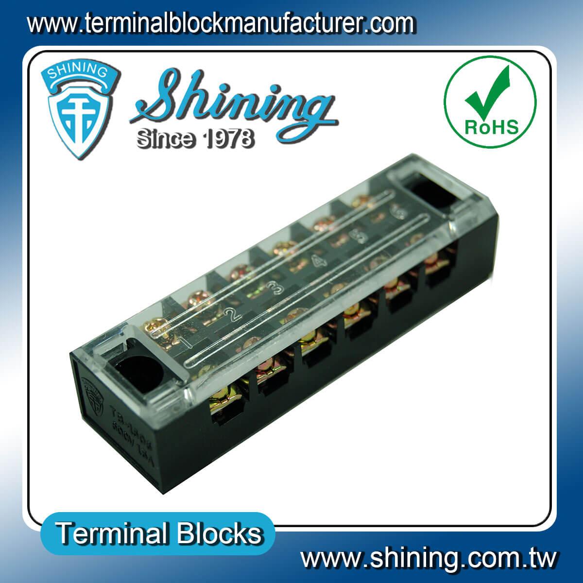 TB-1506 600V 15A 6Pole固定式柵欄端子台