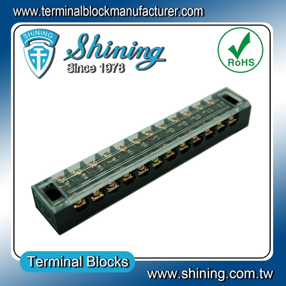 TB-1512 600V 15A 12Pole固定式柵欄端子台