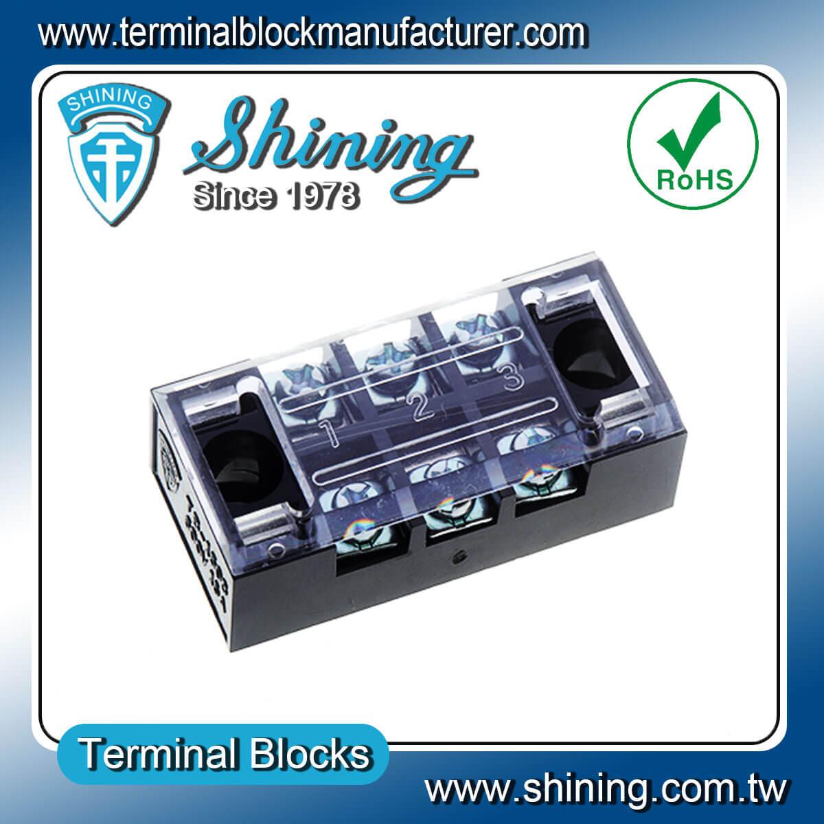 TB-2503 600V 15A 3Pole固定式柵欄端子台