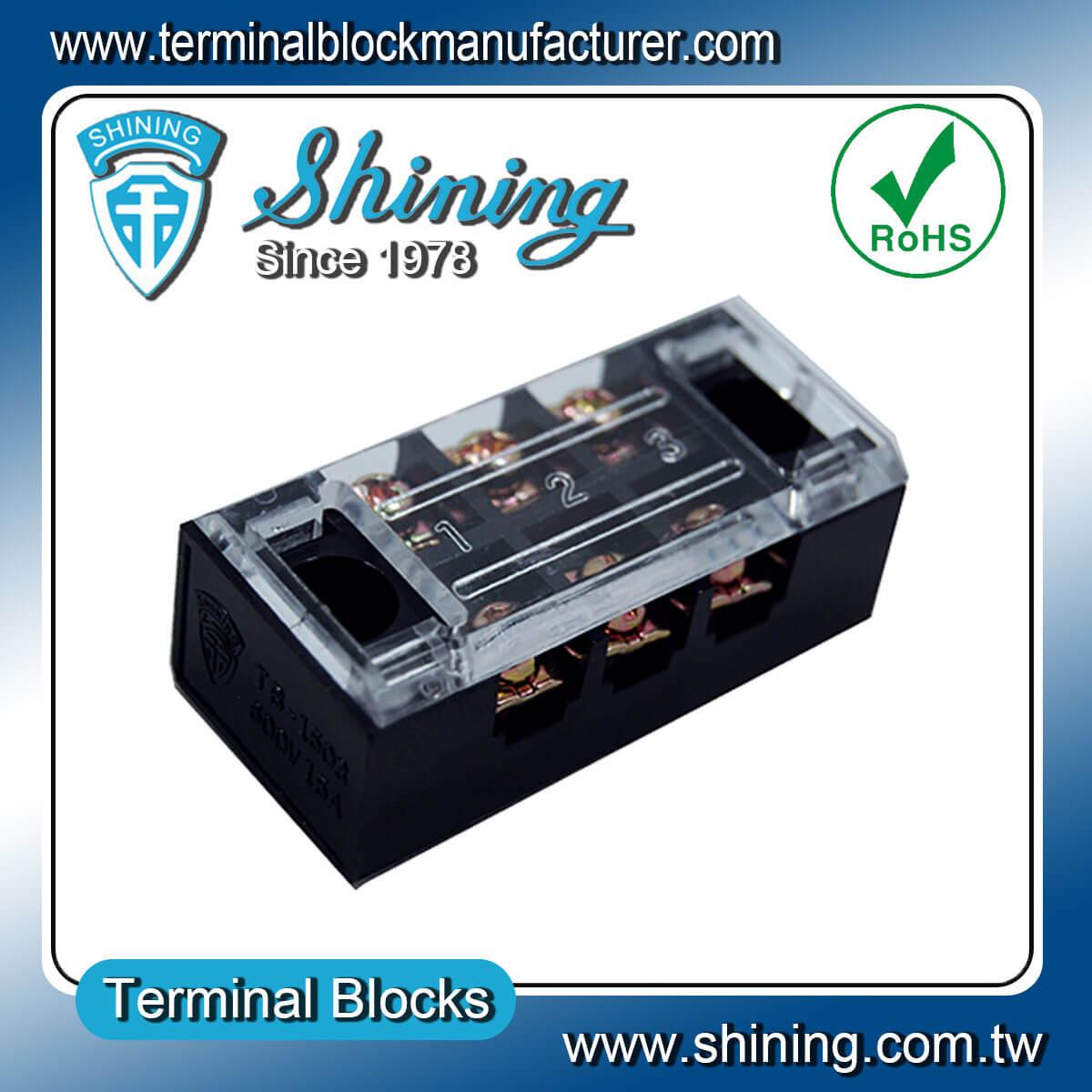 TB-2503L 600V 25A 3Pole固定式柵欄端子台