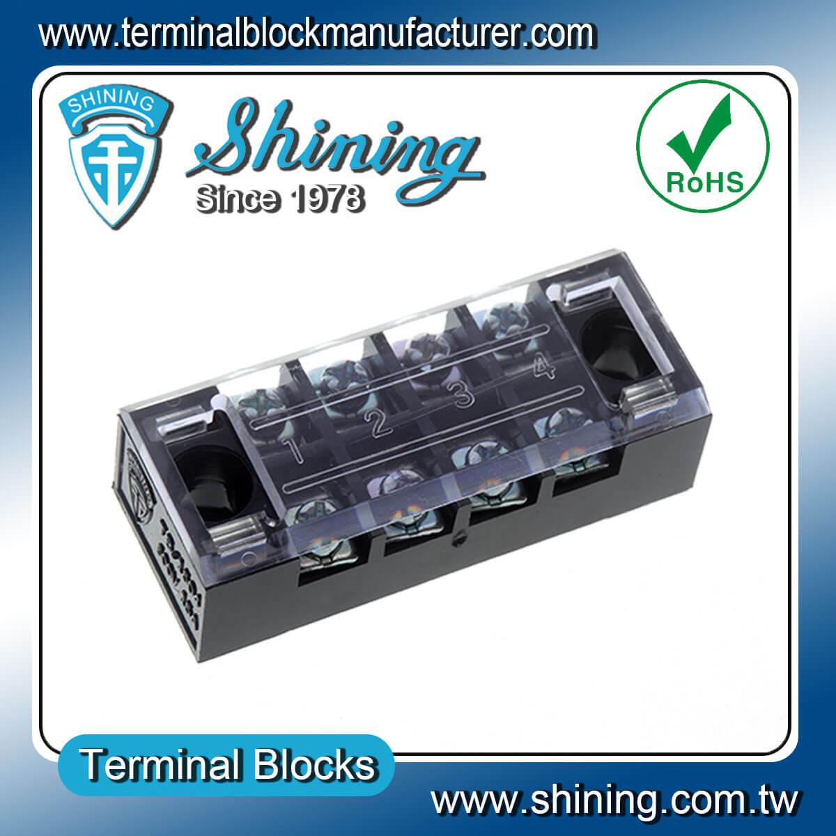 TB-2504 600V 15A 4Pole固定式柵欄端子台