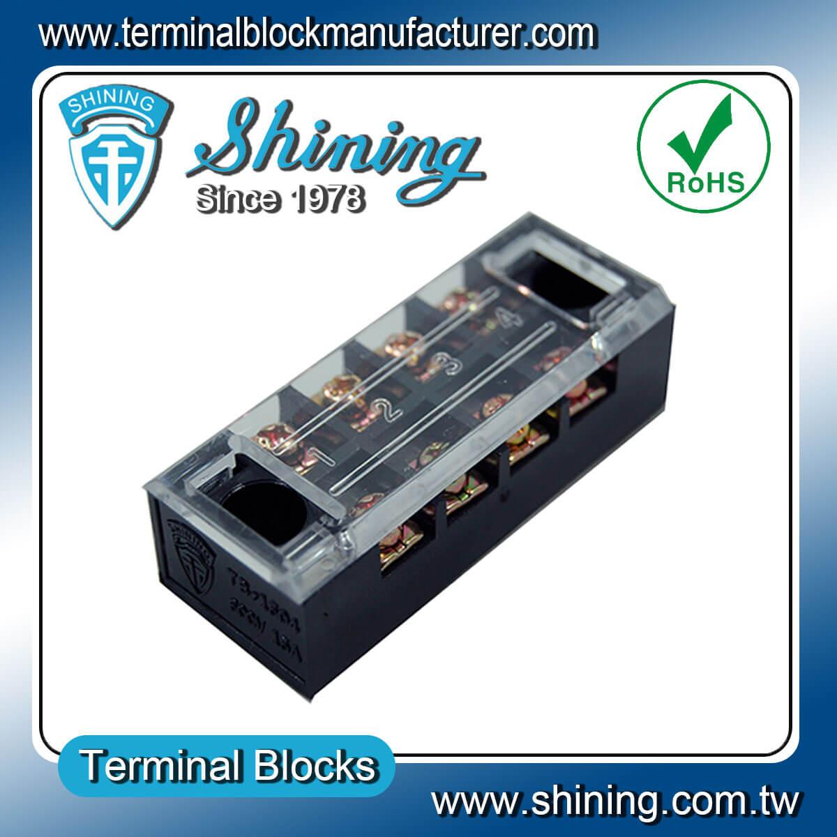 TB-2504L 600V 25A 4Pole固定式柵欄端子台