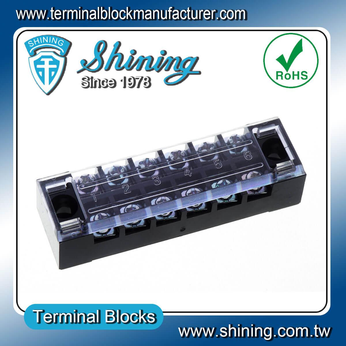 TB-2506 600V 25A 6Pole固定式柵欄端子台