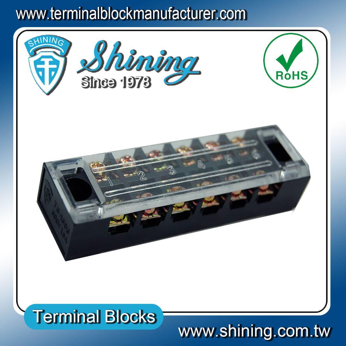 TB-2506L 600V 25A 6Pole固定式柵欄端子台