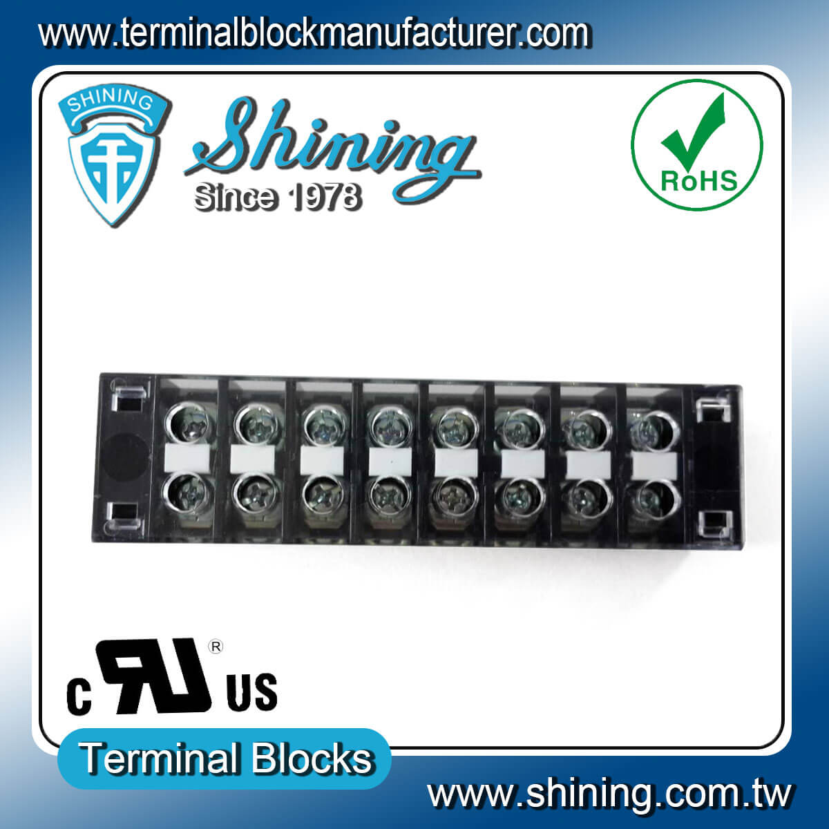TB-31508CP 300V 15A 8Pole固定式柵欄端子台