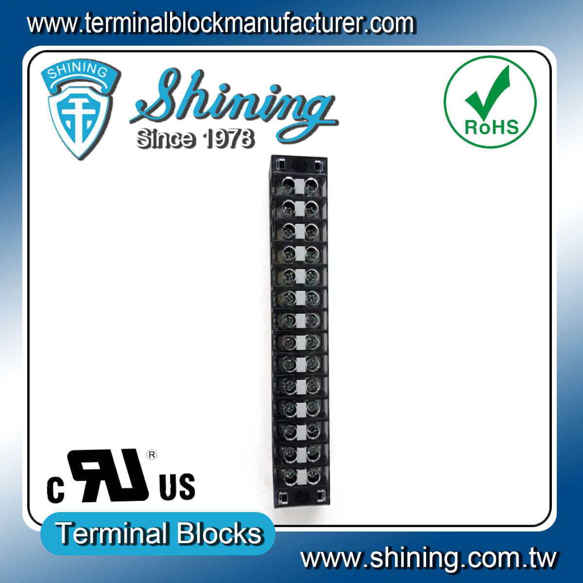 TB-31514CP 300V 15A 14Pole固定式柵欄端子台