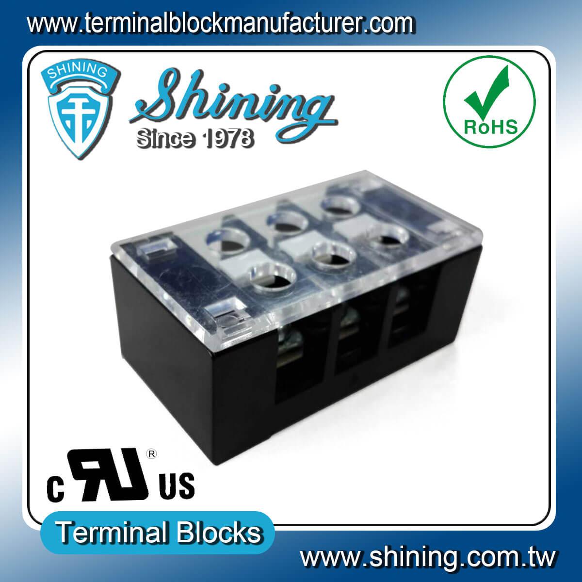 TB-32503CP 300V 25A 3Pole固定式柵欄端子台