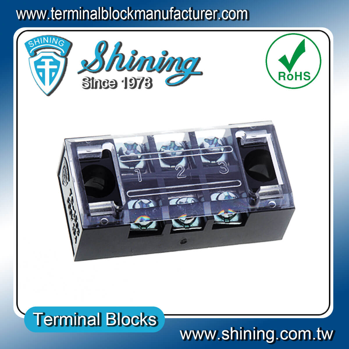 TB-3503 600V 35A 3Pole固定式柵欄端子台