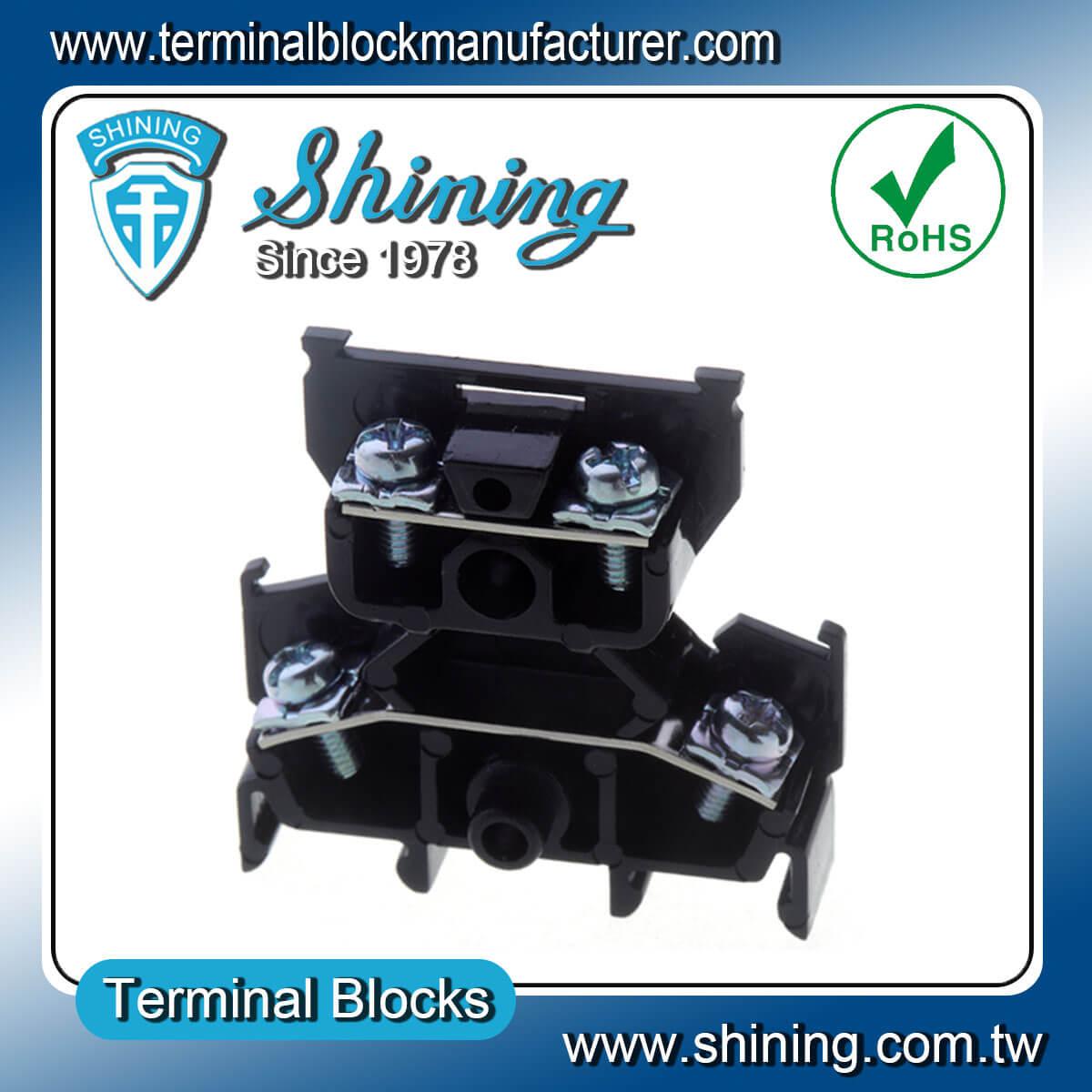 TD-015 600V 15A 35mm組合式雙層端子台