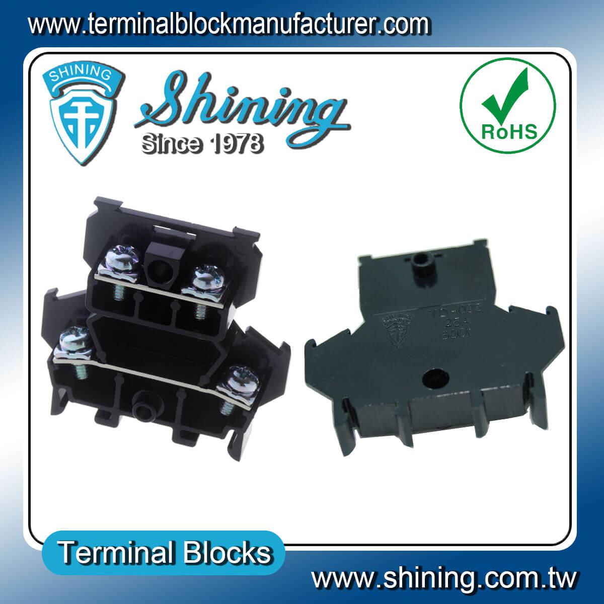 TD-025 600V 25A 35mm組合式雙層端子台