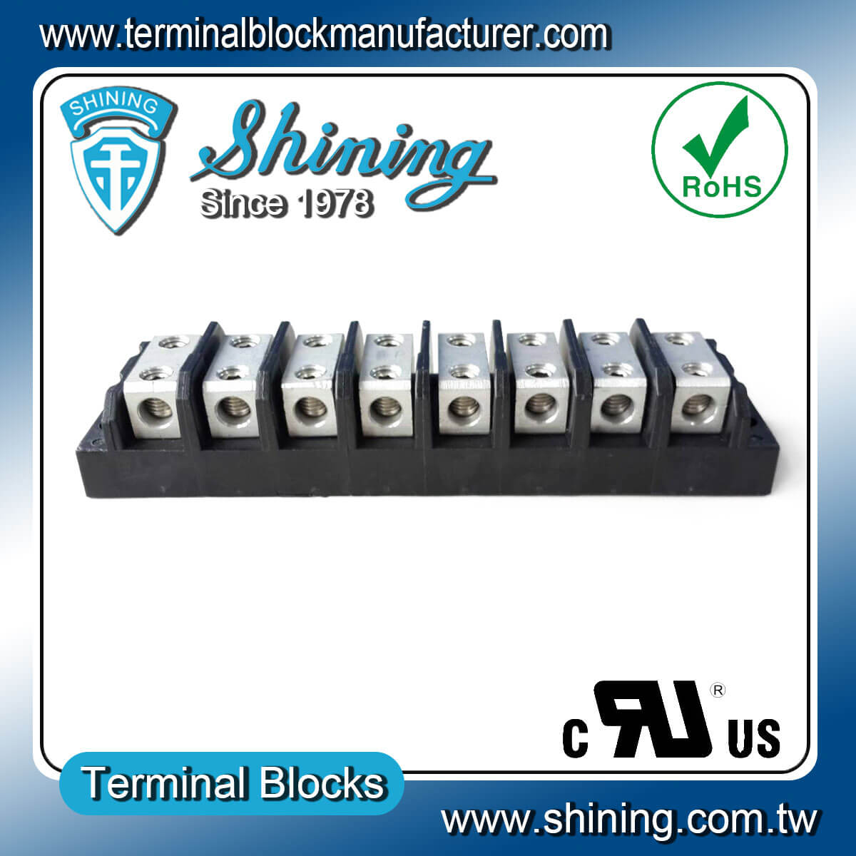 TGP-050-08BHH 600V 50A 8Way電源併接端子台